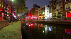 Red Light District - Amsterdam - stock footage