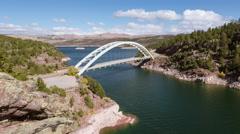 Flaming Gorge Timelapse Stock Footage