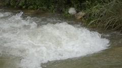 Flooded creek Stock Footage