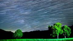 Beautiful Star Trails Galaxy Cosmos Time-lapse Beautiful night sky  Stock Footage
