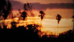 Gorgeous Sunset Sequence-1964 Vintage 8mm film Stock Footage
