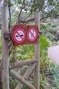 Warn Sign - No Food - No Drinks Stock Photos