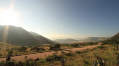 African Scenic with Dirt Road Stock Footage
