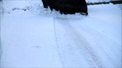 Winter snow removal, clearing the road from snow Arkistovideo