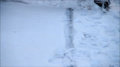 Winter snow removal, clearing the road from snow Stock Footage