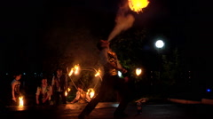Fire show Stock Footage