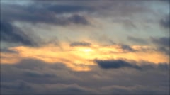 sunset with rain clouds in fast motion - stock footage