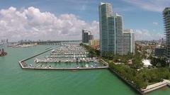 Miami Beach marina Stock Footage