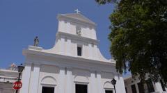 Catholic church Old San Juan Puerto Rico Stock Footage