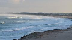 DeHoop Beach zoom to waves Stock Footage