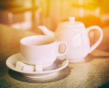 Stock Photo of Cup And Teapot