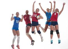 volleyball  woman group - stock photo