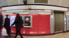Travel by tube baker st Stock Footage
