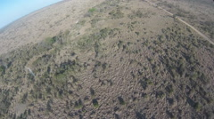 POV from helicopter flying over a wilderness area of the Kruger National Park, - stock footage