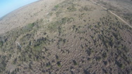 Stock Video Footage of POV from helicopter flying over a wilderness area of the Kruger National Park,