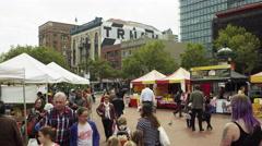 San Francisco open market Stock Footage