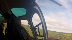 Rare footage - POV Vet in Helicopter herding Rhinos Stock Footage