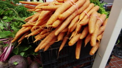 Stock Video Footage of Fresh produce at market in San Francisco