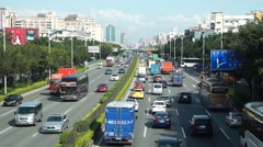 Xixiang Shenzhen 107 National Road Transportation Stock Footage