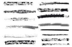 Vector. Engraving brushes set. - stock illustration