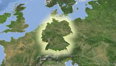 Germany on maps. Neighbourhood. Set of animations. Stock Footage