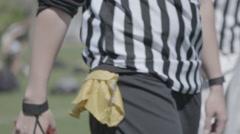 Flag Football Ref Stock Footage