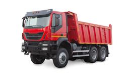 dump truck isolated on white - stock photo