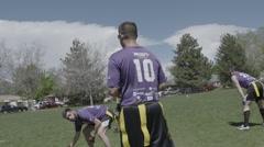 Flag Football Stock Footage