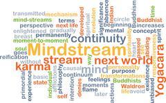 Mindstream background concept - stock illustration
