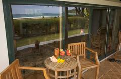 Oceanfront Lanai - stock photo