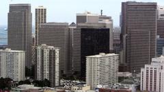 Pan of San Francisco skysrapers Stock Footage