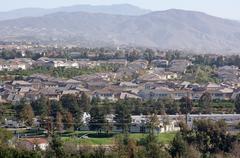 Contemporary Suburban Neighborhood - stock photo
