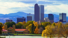 City Park Denver Skyline Time Lapse Stock Footage