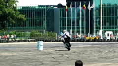 Chris Pfeiffer stuntriding 8 Stock Footage