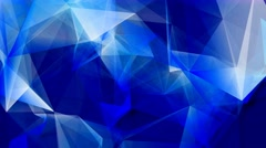 Geometric poly shapes abstract motion background 5 Stock Footage