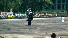 Chris Pfeiffer stuntriding 9 Stock Footage