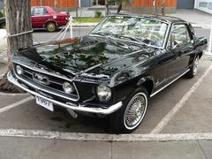 Ford Mustang Coupe V289 produced in 1967 Stock Photos