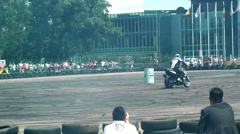 Chris Pfeiffer stuntriding 10 Stock Footage
