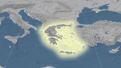 Stock Video Footage of Greece. Neighbourhood. Elevation