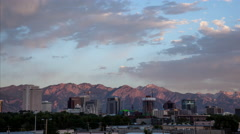 Salt Lake City Sunset Timelapse Stock Footage