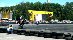 Chris Pfeiffer stuntriding 4 Stock Footage
