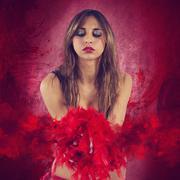 Cabaret girl Stock Photos