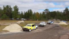 Auto track, Gazprom's Cup auto racing Nadym  Stock Footage