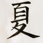 Chinese calligraphy character: summer - stock photo
