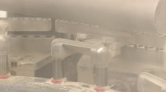 Closeup shot of a circulating stamping machine part. Stock Footage
