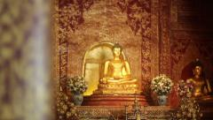 Phra Singh statue ,Chiangmai Thailand. - stock footage