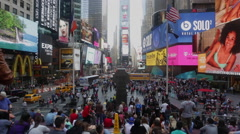 Time Lapse of people visit the Times Square in New York - stock footage