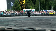 Chris Pfeiffer stuntriding 1 Stock Footage