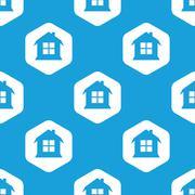 House hexagon pattern - stock illustration