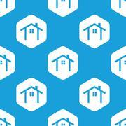 Cottage hexagon pattern Stock Illustration